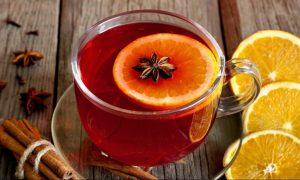 Чай с перцем, пряностями и апельсиновой цедрой