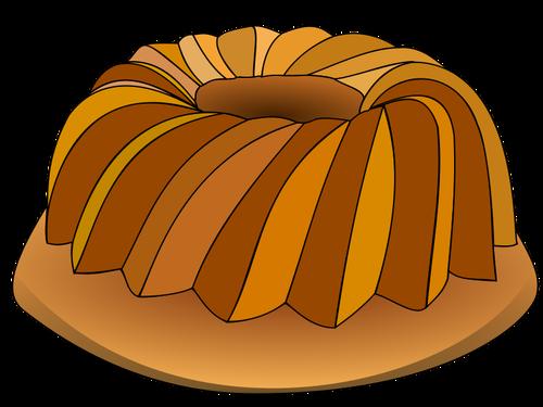 Бисквитный торт с орехами