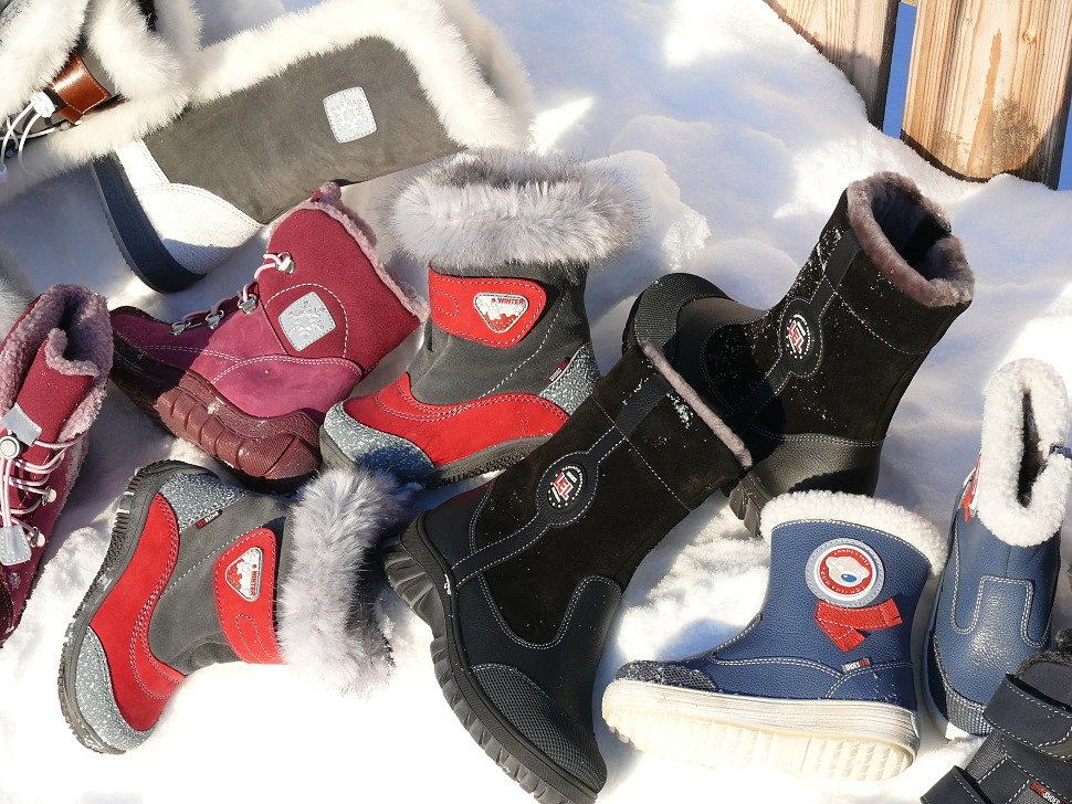 Теплая детская зимняя обувь
